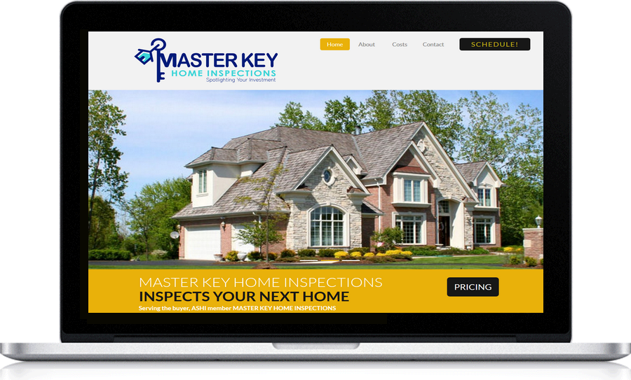 Master Key Inspections local Website design Pegasus Ventures